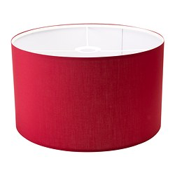 RISMON shade, white, dark red Diameter: 40 cm Height: 24 cm