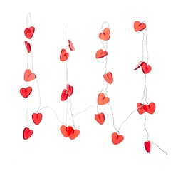RAMSTA lighting chain 24 hearts, red Length: 8.6 m Cord length: 4.0 m