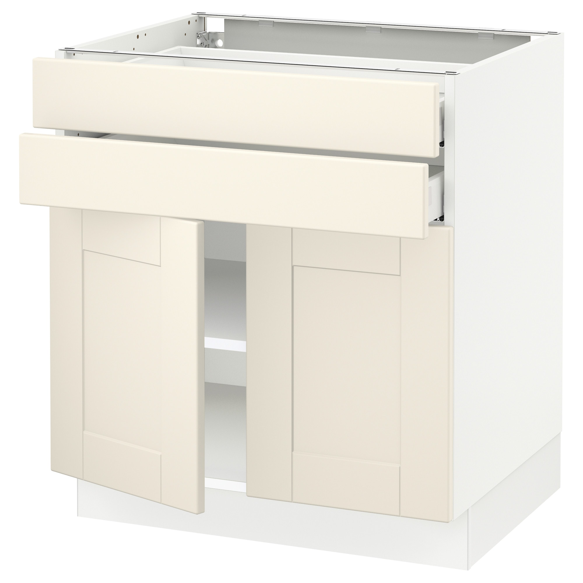 Sektion Base Cabinet With 2 Doors Drawers White Ma Grimslöv Off 30x24x30 Ikea