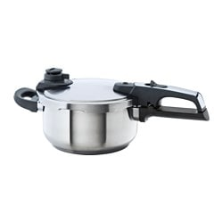 VÄRDESÄTTA pressure cooker, stainless steel Diameter: 22 cm Height: 17 cm Volume: 4 l