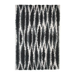 SKOVEN rug, high pile, gray, black