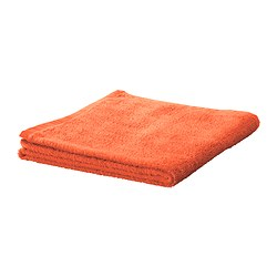 HÄREN bath sheet, orange Length: 150 cm Width: 100 cm Area: 1.50 m²