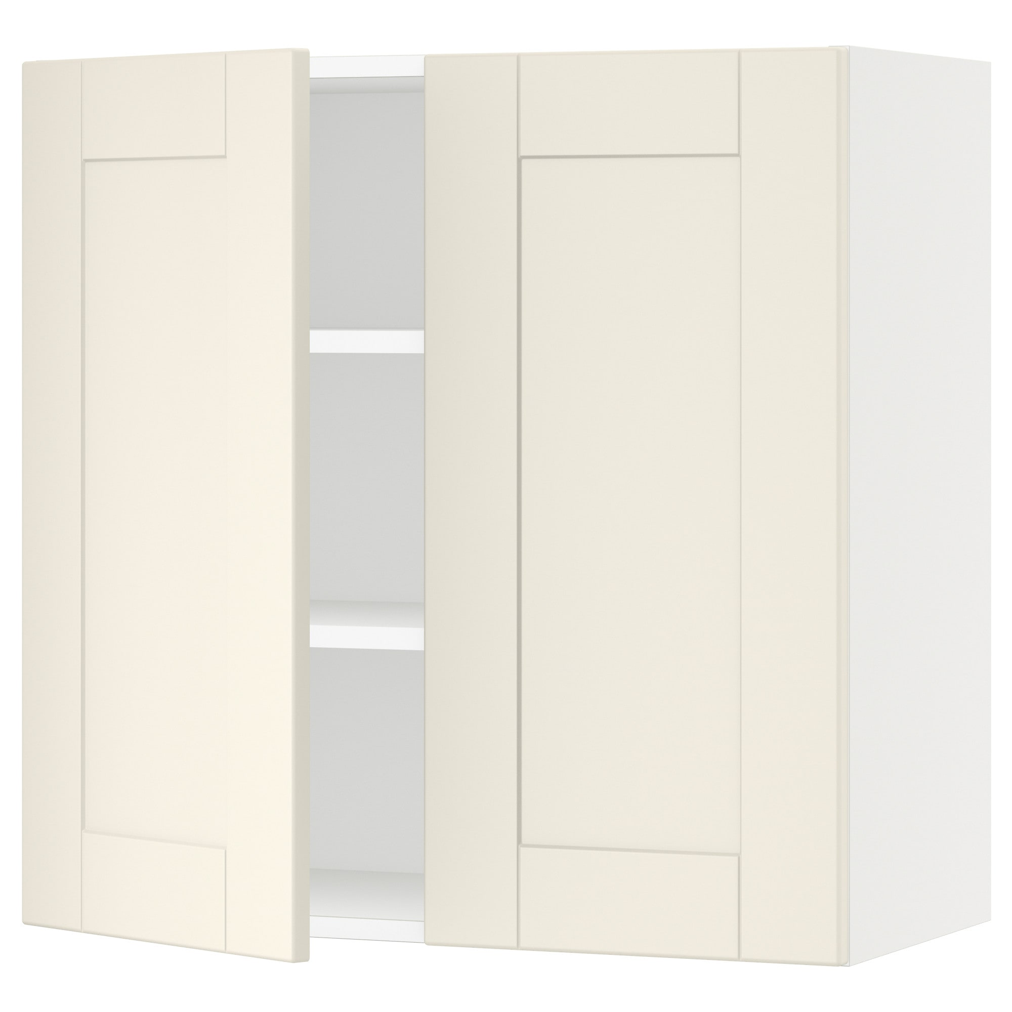 SEKTION Wall cabinet with 2 doors - white, Grimslöv off-white ...