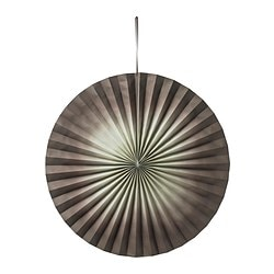 FÄRGTON decoration, brown Diameter: 100 cm