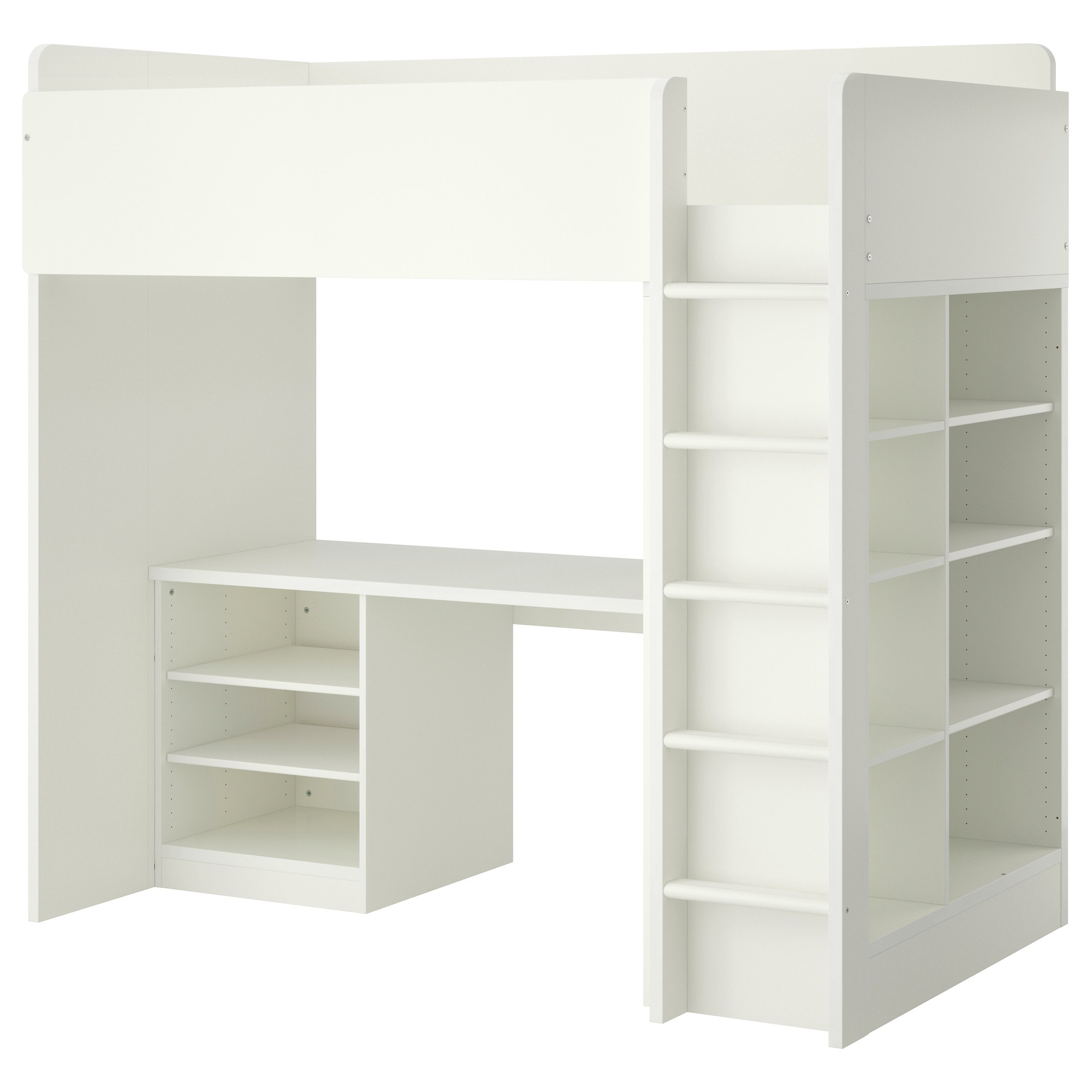 Bunk bed with desk ikea - Stuva loft bed combo w 2 shlvs 3 shlvs white height 76