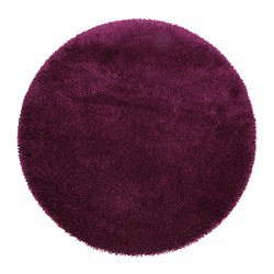 ÅDUM rug, high pile, lilac Diameter: 130 cm Area: 1.33 m² Surface density: 3300 g/m²