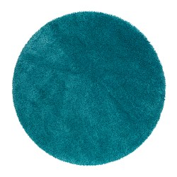 ÅDUM rug, high pile, turquoise Diameter: 130 cm Area: 1.33 m² Surface density: 3300 g/m²