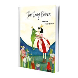 "KVACK - THE FROG PRINCE book Width: 8 ¾ "" Height: 12 ¼ "" Width: 22.2 cm Height: 31 cm"