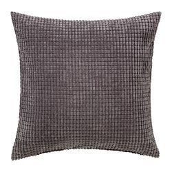 GULLKLOCKA, Cushion cover, gray