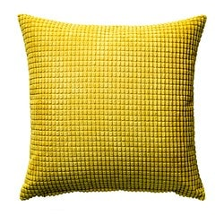 GULLKLOCKA, Cushion cover, yellow