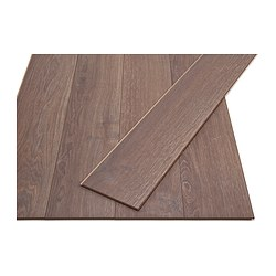 GOLV laminated flooring, brown, oak effect Length: 138 cm Width: 19.3 cm Plank thickness: 8 mm
