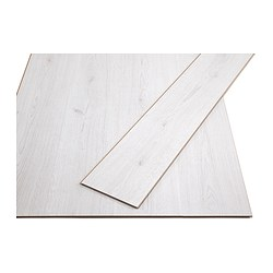 TUNDRA laminated flooring, white whitewash oak effect Length: 138 cm Width: 19.0 cm Plank thickness: 7 mm