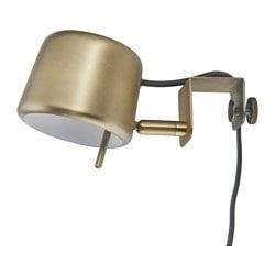VARV clamp spotlight, brass-colour Luminous flux: 200 lm Diameter: 11 cm Height: 11 cm