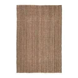 "LOHALS rug, flatwoven, natural Length: 7 ' 7 "" Width: 5 ' 3 "" Area: 39.61 sq feet Length: 230 cm Width: 160 cm Area: 3.68 m²"