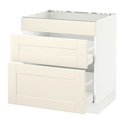 SEKTION Base Cab F/cooktop With 2 Drawers, White Maximera, Grimslöv Off