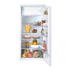 FÖRKYLD integrated fridge w freezer compart, white Width: 54.0 cm Depth: 54.9 cm Height: 121.8 cm