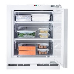 GENOMFRYSA integrated freezer A+, white Width: 59.6 cm Depth: 54.5 cm Height: 81.5 cm