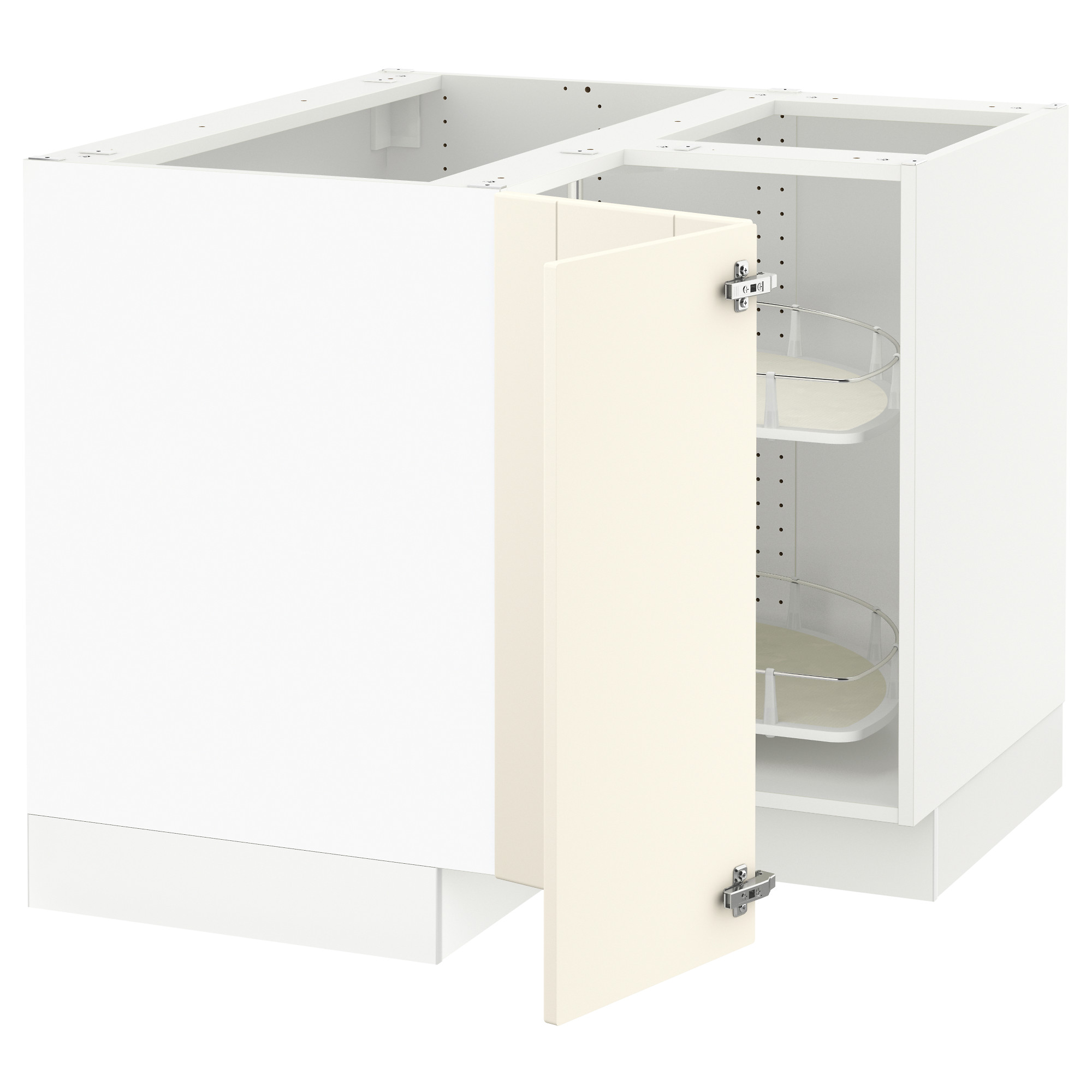 SEKTION Corner base cabinet with carousel white Grimslöv off