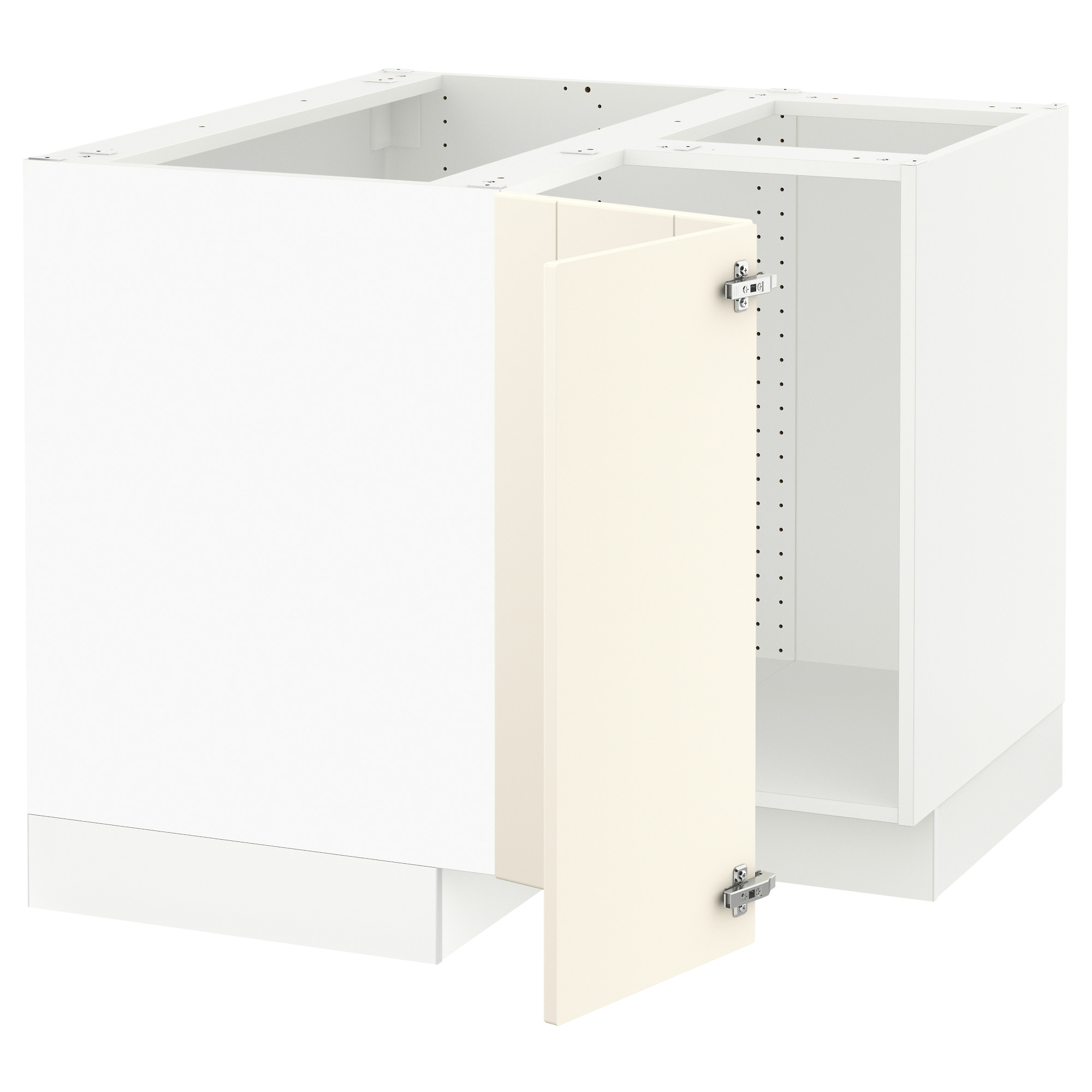 SEKTION Corner base cabinet for sink white Grimslöv off white