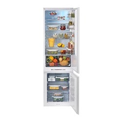 HÄFTIGT integrated fridge/freezer A+, white Width: 54.0 cm Depth: 55.2 cm Height: 182.7 cm