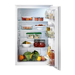 SVALNA integrated fridge A+, white Width: 54.0 cm Depth: 54.9 cm Height: 87.3 cm