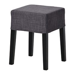 "NILS stool, Skiftebo dark gray, black Tested for: 243 lb Seat width: 13 3/8 "" Seat depth: 13 3/8 "" Tested for: 110 kg Seat width: 34 cm Seat depth: 34 cm"