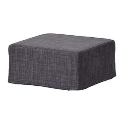 NILS stool cover, Skiftebo dark gray