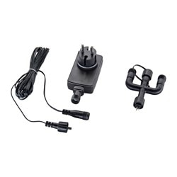 SKRUV transformer/cord/3-way connector, black Power: 30 W