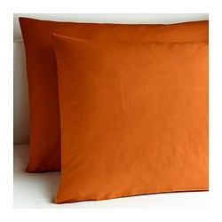 "DVALA pillowcase, orange Thread count: 144 /inch² Pillowcase quantity: 2 pack Length: 20 "" Thread count: 144 /inch² Pillowcase quantity: 2 pack Length: 51 cm"