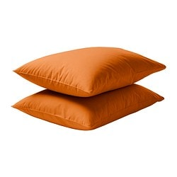 "DVALA pillowcase, orange Thread count: 144 square inches Pillowcase quantity: 2 pack Length: 20 "" Thread count: 144 square inches Pillowcase quantity: 2 pack Length: 51 cm"