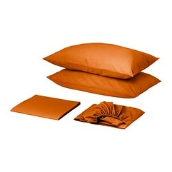 DVALA sheet set, orange Thread count: 144 /inch² Thread count: 144 /inch²