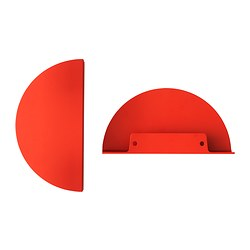 "TOSTERUP handle, red Length: 7 1/2 "" Width: 3 13/16 "" Depth: 1 1/16 "" Length: 190 mm Width: 97 mm Depth: 27 mm"