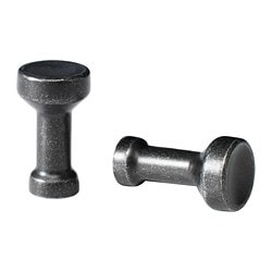 MÖLLARP knob, black Depth: 25 mm Diameter: 14 mm Drilled hole diameter: 5 mm