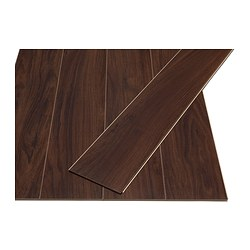 PRÄRIE laminated flooring, dark brown Length: 129 cm Width: 19 cm Thickness: 7 mm
