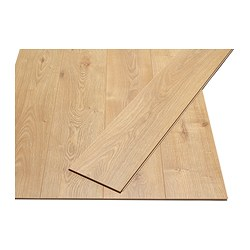 PRÄRIE laminated flooring, oak effect Length: 129 cm Width: 19 cm Thickness: 7 mm