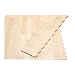 SLÄTTEN laminated flooring, maple effect
