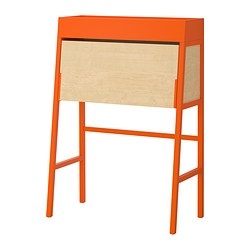 IKEA PS 2014 bureau, orange, birch veneer Width: 90 cm Depth: 44 cm Height: 127 cm