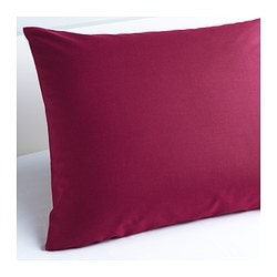 "SÖMNIG pillowcase, dark pink Thread count: 166 square inches Length: 20 "" Width: 30 "" Thread count: 166 square inches Length: 51 cm Width: 76 cm"
