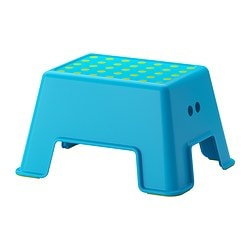 BOLMEN step stool, blue