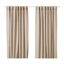 AINA curtains, 1 pair, beige