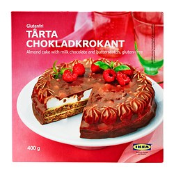 TÅRTA CHOKLADKROKANT almond cake,chocolate/butterscotch Net weight: 14.1 oz Net weight: 400 g