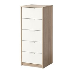 Askvoll 5 Drawer Chest White Stained Oak Effect Ikea Family Member Price