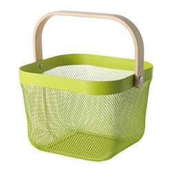 "RISATORP wire basket, green Length: 9 ¾ "" Width: 10 ¼ "" Height: 7 "" Length: 25 cm Width: 26 cm Height: 18 cm"