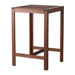 ÄPPLARÖ bar table, outdoor, brown stained Length: 70 cm Width: 70 cm Height: 105 cm