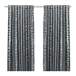 GUNNI block-out curtains, 1 pair, grey Length: 300 cm Width: 145 cm Weight: 2.40 kg