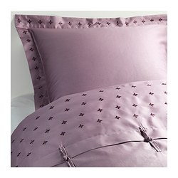 VINRANKA quilt cover and 2 pillowcases, lilac Thread count: 310 /inch² Pillowcase quantity: 2 pieces Quilt cover length: 200 cm