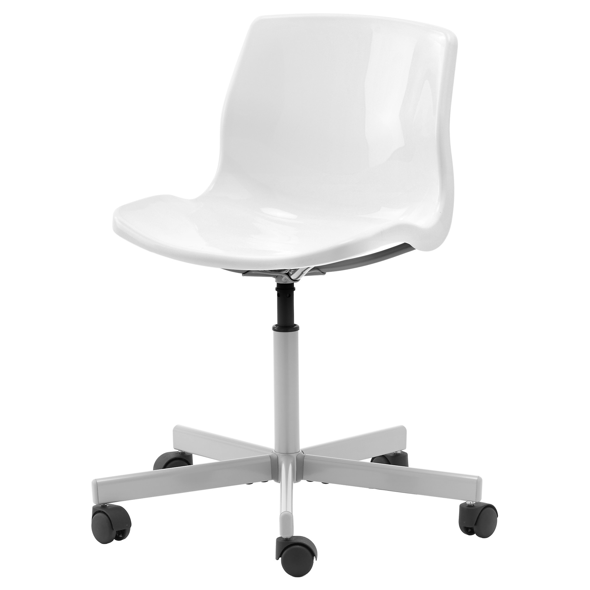 Black chair and white chair - Snille Swivel Chair White Tested For 243 Lb Width 26 3 8