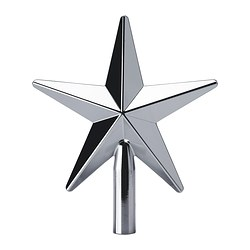 "VINTER 2017 tree topper, star, silver color Height: 9 ½ "" Height: 24 cm"