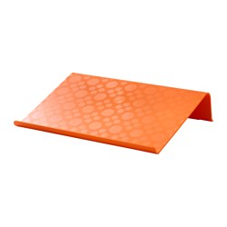 BRÄDA laptop support, orange Width: 42 cm Depth: 31 cm Height: 9 cm
