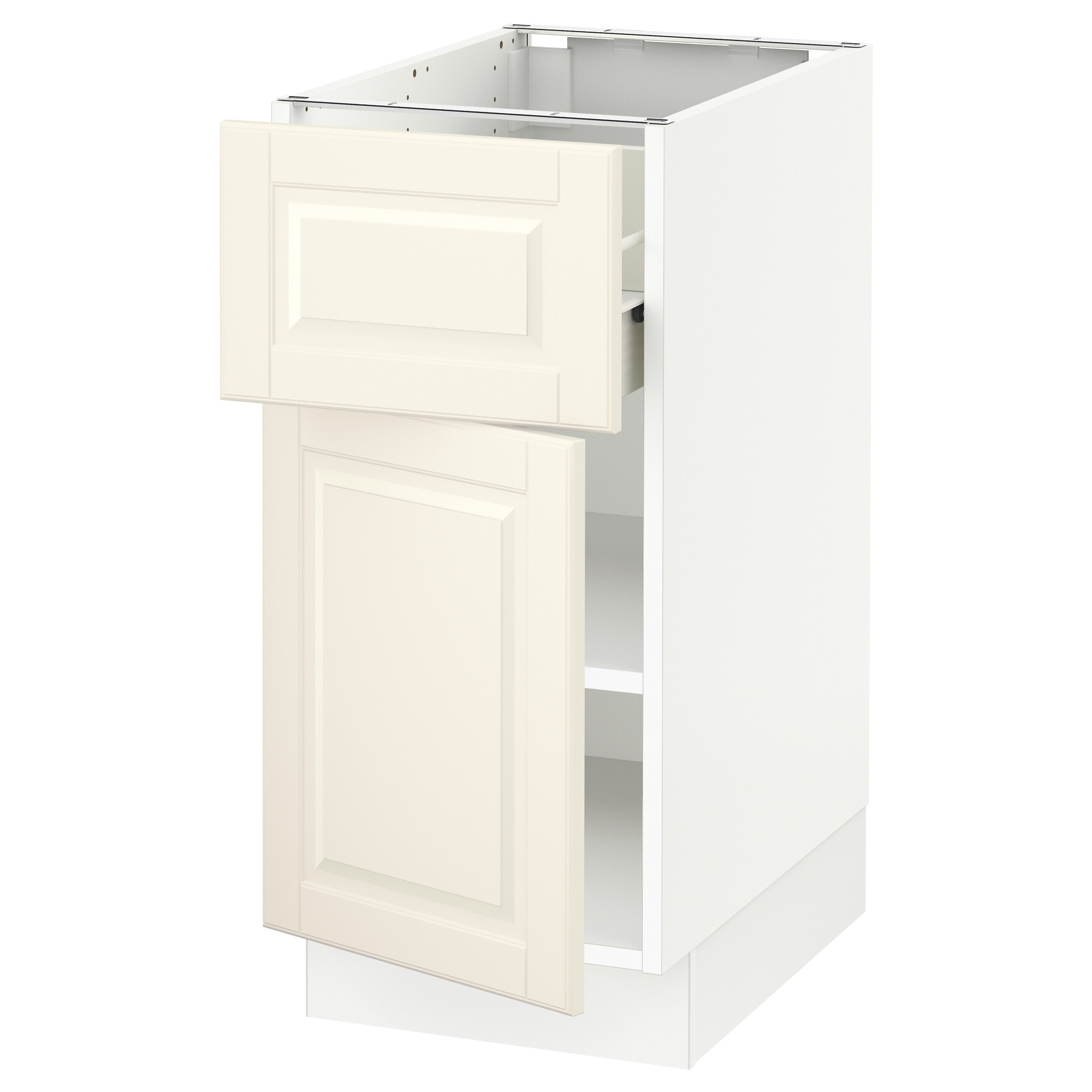 SEKTION Base Cabinet With Drawer/door   White, Fö, Bodbyn Off White,  15x24x30